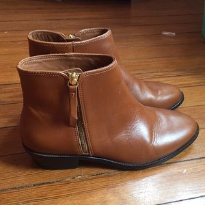 Jcrew Frankie boots in warm sepia (brown) size 9.5